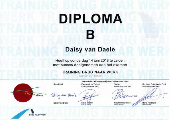 Diploma BnW (fictief)